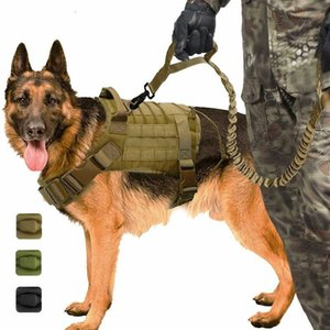 Service Vest Tactical Breathable Military Dog Clothes K9 Harness Adjustable Size Training Hunting Molle