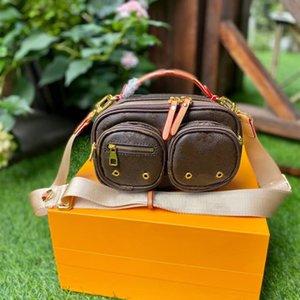 Men Women Crossbody Camera Bags 2-piece Fashion Designer Shoulder Messenger Bag Small Handbags Purses with Printed Letters High Quality