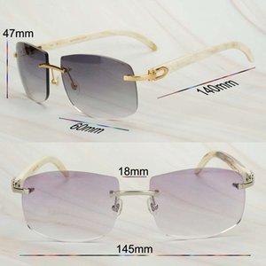 Huella digital blanco búfalo de búfalo gafas grandes para hombres carter decoración gafas de sol de gran tamaño mujeres Aga