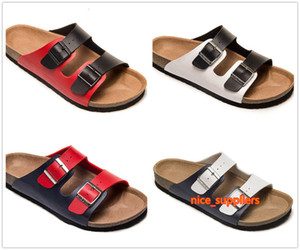Various Colorful Famous Brand Arizona Men Cork Flat Heel Sandals Women Fashion Summer Beaches Casual Shoes With Buckle Genuine Leather shoes