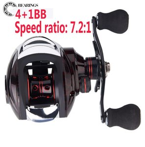 Bait casting Reel Fishing Reels, 4+1 Ball bearings, 7.2:1 Gear Ratio, New style, new design, fashionable appearance