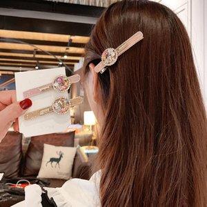 Koreanische weibliche Pearl Dubil Ins Net Red Full Diamond Banger Hairpin Band Bohrerseite Clip