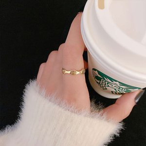 version ins trendy smiling face opening female Japanese and Korean minority design sense simple net red tail ring