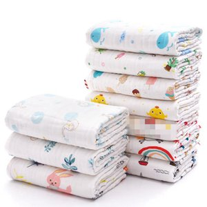 Baby Blanket 100% Cotton Baby Swaddle Gauze Infant Kids Wrap Bath Towels Soft Newborn Stroller Cover 17 Designs DW6434