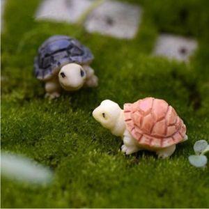 Mini Turtles Landscape Ornaments Resin Garden Decorations Fairy Garden Miniatures Garden Bonsai Dollhouse Decorations Resin Craft YHM618
