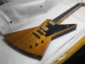 Ücretsiz Kargo 1956 Düzensiz Şekil Gitar, Maun Ahşap Gitar, HH Pickups, Altın Ton Hacmi, Siyah Pickguard,