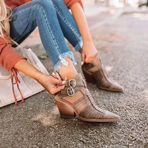 Lasperal Kadınlar Topuklu 2019 Sivri Burun Pompaları Kadın Ayakkabı Comfort PU Düşük Topuk Ayakkabı Moda Bayan Deri Çizmeler Erkek Ayakkabı Erkek Botları Y4RC #