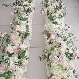 Декоративная Цветочная вечеринка Празднование Свадебное Декор Фон Путь Ведущий Цветок Rij Искусственный Кусок Розы Pioen Swed Стол Бал 0715