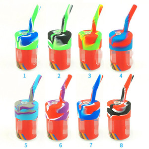 DHL wholesale tobacco pipe Portable Silicone Pipe Glass Bowl Dab Pipe Environmentally Silicone Water Bong