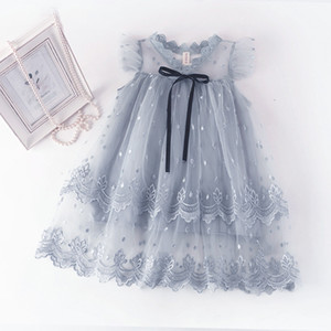 Girls Dresses Kids Girls Designers Dress Lace Floral Printed Clothing Baby Princess Dress For Summer Girl Clothes 2021