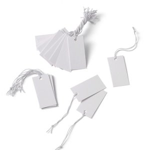 White Paper Price Cards Rectangle For Jewelry Display 35x18mm Whi jllCDB