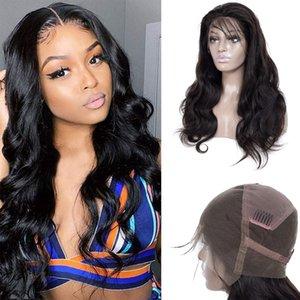 Peruanische unverarbeitete menschliche Reinheit Haar 13x4 Spitze Front Perücken Körperwelle Baby Haar Natürliche Schwarzfarbe 18-30 Zoll