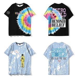 QNPQYX Neue Herren T-Shirt Travis Scott Astroworld Festival Glückliches Gesicht T-Shirt Hohe Qualität T-Shirt Männer Frauen Travis Scott Astroworld T-Shirts