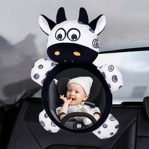 Stroller Parts & Accessories Baby Rear Facing Mirrors Adjustable Safety Car Seat Rearview Mirror Kawaii Animal Figure Plush Toy Infants Ratt