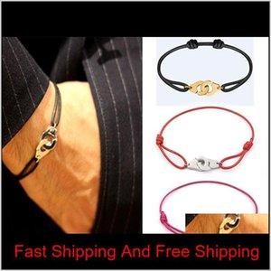France célèbre bijoux Dinh van bracelet pour femme Mode bijoux 925 Sterling Sterling Silver Corde Bracelet Menottes WTVNP K4IYI