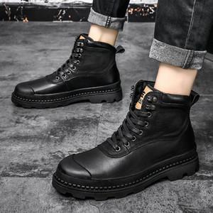 남성 신발을위한 2020 남자 부츠 모피 따뜻한 발목 부츠 성인 motocycle 눈 겨울 신발 남자 큰 크기 47 44JY #