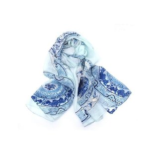 New in ilk floral print large scarf for women