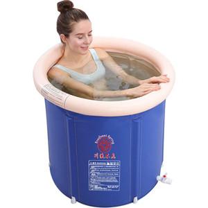 Bad zusammenklappbar Portable Erwachsene Badewanne Haushaltsfass Bequeme Erwachsene Badewanne Große einfache aufblasbare tiefe