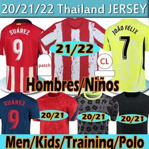 21 22 Новый Атлетико футбол футбол Jersao Felix Suarez Koke Madrid 2020 2021 Camisetas de Fútbol Training Polo с длинными рукавами FOOBALL рубашка