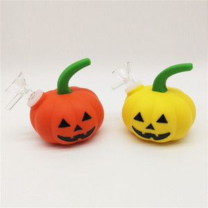 NEW Pumpkin-Shape Hookah Smoking Water Pipe Glass Bong Halloween Shisha Pipe with Glass Bowl VS Twisty Glass Blunt Bowl