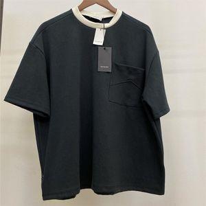 2020 RHUDE T-shirt Erkek Kadın Rahat T-Shirt Siyah Bej O-Boyun Rhude Tee 1: 1 Yüksek Kaliteli Pamuk Tops Cep Grunge Stil L0223