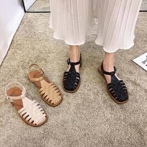 New Summer Fashion Casual Fisherman Weave Rome Sandals Solid Plus Size Soft Cozy Beach Sliders Outdoor