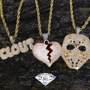 Street Mask Long Rvs Hanger Hip Hop Broken Heart Chains Jewelry Poison Chain