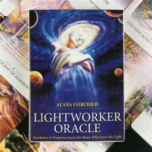 LIGHTWORKER Oracles 44card Deck Artistic English Tarot Cards Fate DivinationBoard Game for Entertainment with PDF Guidebook