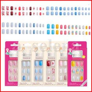 Réutilisable Faux Nails avec des conseils de conception TIPS Couverture complète Presse sur Confortable pour porter l'outil de soin des ongles 24pcs / set
