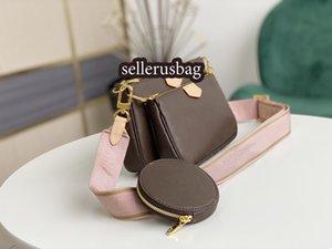 2021 new! 3 Pcs set bag Favorite Multi Pochette Accessories Women Crossbody Purse Messenger Bags Handbags Flowers Designers Shoulder Lady Leather bag with box