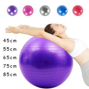 PVC Fitness Balls Yoga Ball Thickened Explosion-proof Exercise Home Gym Pilates Equipment Balance Ball 45cm 55cm 65cm 75cm 85cm
