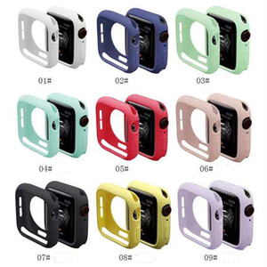 Colorful Soft Silicone Case for Apple Watch iWatch Series 4 5 6 SE Cover Full Protection Cases 42mm 38mm 40mm 44mm Band Accessories