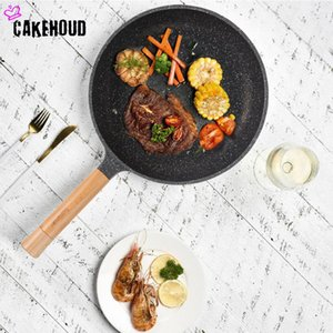 Cakehoud Maifan Stone Pan Non-Stick Pan Nuovo Stufa in stile cinese Frying Stufa Dual-Shoils Frying Cooking Tools