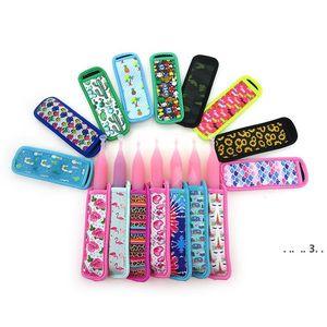 Неопреновые гильзы для эскиа изолированные морозильные держатели ICypole для детских летних байдарков, подсолнечника, собака, галстук-краситель 14 цветов EWF5521