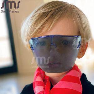 Boy's Girls Farshield Protective Glasses Gafas Gafas Safety Blocs Glasses Mask Kids Face Shield Goggle Gafasses