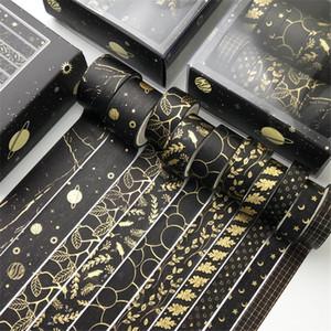 10 Pcs set Gold Washi Tape Vintage Masking Tape Cute Decorative Adhesive Sticker Scrapbooking Diary Stationery 2016 JKXB2103