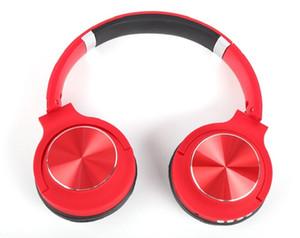 سماعات بلوتوث لاسلكية للكمبيوتر الشخصي لعبة صندوق الرصيف HIFI Headset Metal Laser Headphones دعم بطاقة FM Pluggable