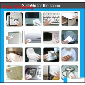 White Melamine Sponge Magic Sponge Eraser Melamine Cleaner For Kitchen Office Bathroom Cleaning Nano Sponges Free Fa jllfOO mywjqq