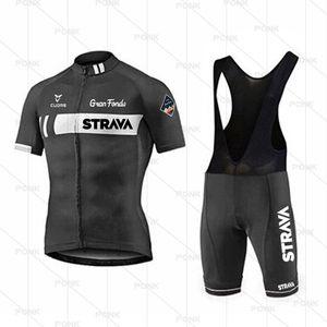 Racing Sets 2021 Pro Strava Велоспорт Джерси Команда Одежда Одежда Костюмы MTB Bib Шорты Усадьбы Мужчины Bike Ropa Ciclismo Sportswear 19D GEL