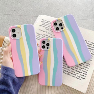 New arrival 2021 Art Rainbow Liquid Silicone Phone Case for iPhone 11 12 Pro MAX X XS MAX XR Mini 7 8 Plus SE 2 2020 Gel Rubber Cover