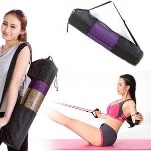 Storage Bags Nylon Carrier Mesh Yoga Mat Bag Adjustable Strap Sport Tool Convenience Black Backpack Waterproof