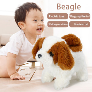 Robot Dog Toys Realistic Plush Simulation Smart Dog Called Walking Plush Doll Electric Toddler Toy Dog Robot For Children Gift