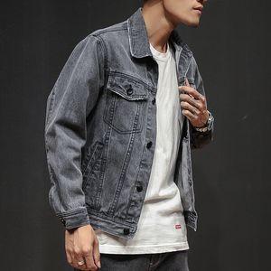 2021 Autumn Short Male Jeans, New Trend Ny Retro Casual Jacket, Gray Denim Wild Spring Jacket Men's Clothes 0281