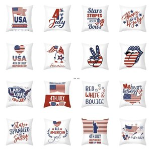 Independence Day Pillow Case 4th of July 18 Inch Throw Pillow Cover for Couch Sofa Patriotic Home Decor Pillow Case DHB5290