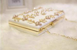 2020 Women Handbag Evening Bags For Party New Women Chain Shoulder Bag Ladies Fashion Gold Clutch Box Bag Women Messenger