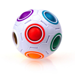 Creative Magic Cube Ball Antistress Rainbow Football Puzzle Montessori Kids Toys for Children Stress Reliever Toy Party Gift LLA358