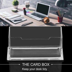 السنانير القضبان مسح سطح المكتب حامل بطاقة الأعمال عرض موقف الاكريليك البلاستيك مكتب الجرف تخزين مربع شفافة