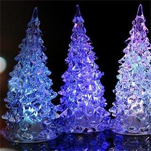 Arbol Navidad Nova Colorido LED Xmas Árvore de Fibra Noturna Decoração Lâmpada Luz Luz Mini Natal Árvore Decorações para Casa 709 K2