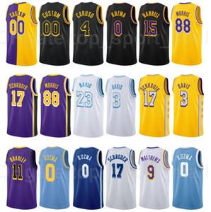 Screen Print Basketball Kyle Kuzma Jersey 0 Dennis Schroder 17 Kentavious Caldwell-Papst 1 Talen Horton-Tucker 5 Gasol City Verdienste Ausgabe