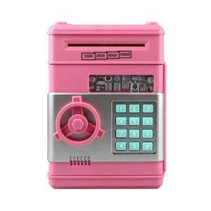 Électronique piggy Bank ATM Mot de passe Money Boîte Caisse Caisses Économie Banque ATM Coffre Coffre-fort Scroll Cadeau de billets de papier pour enfants 57 S2